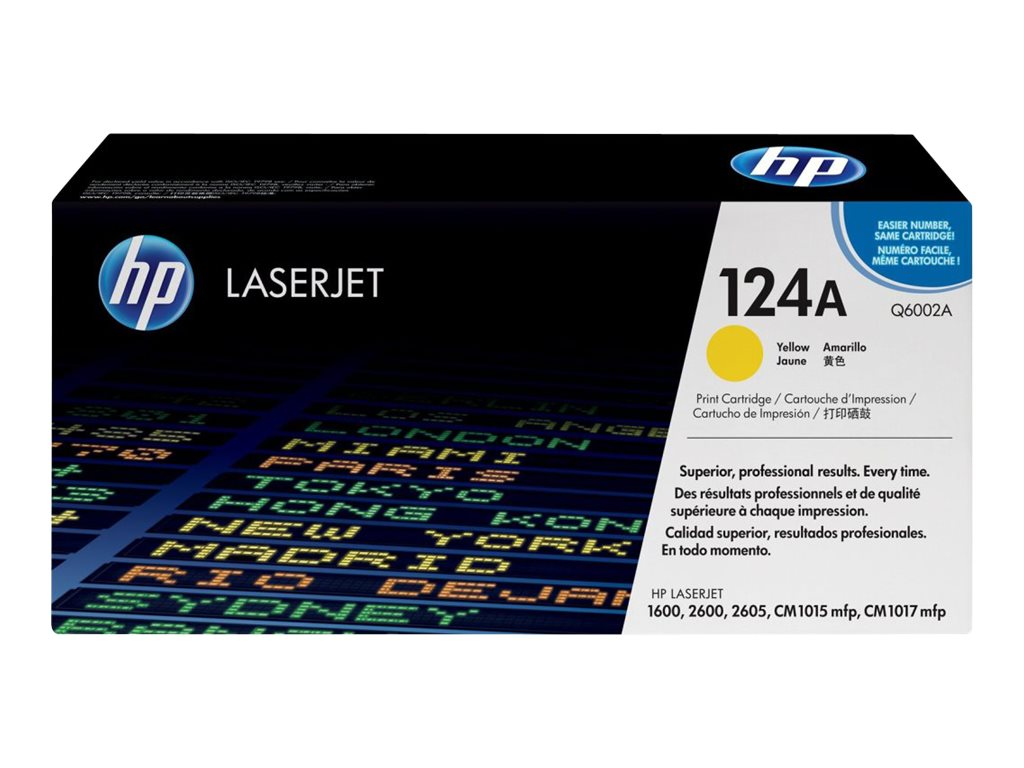 HP 124A (Q6002A) Yellow Original LaserJet Toner Cartridge