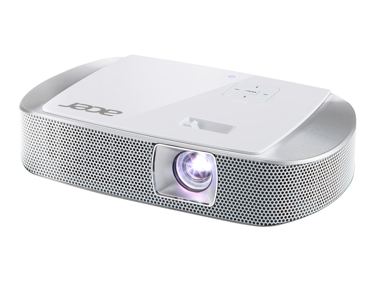 Open Box Acer K137 WXGA Portable DLP Projector with Speakers, 700 Lumens, White, MR.JGZ11.009, 30803947, Projectors
