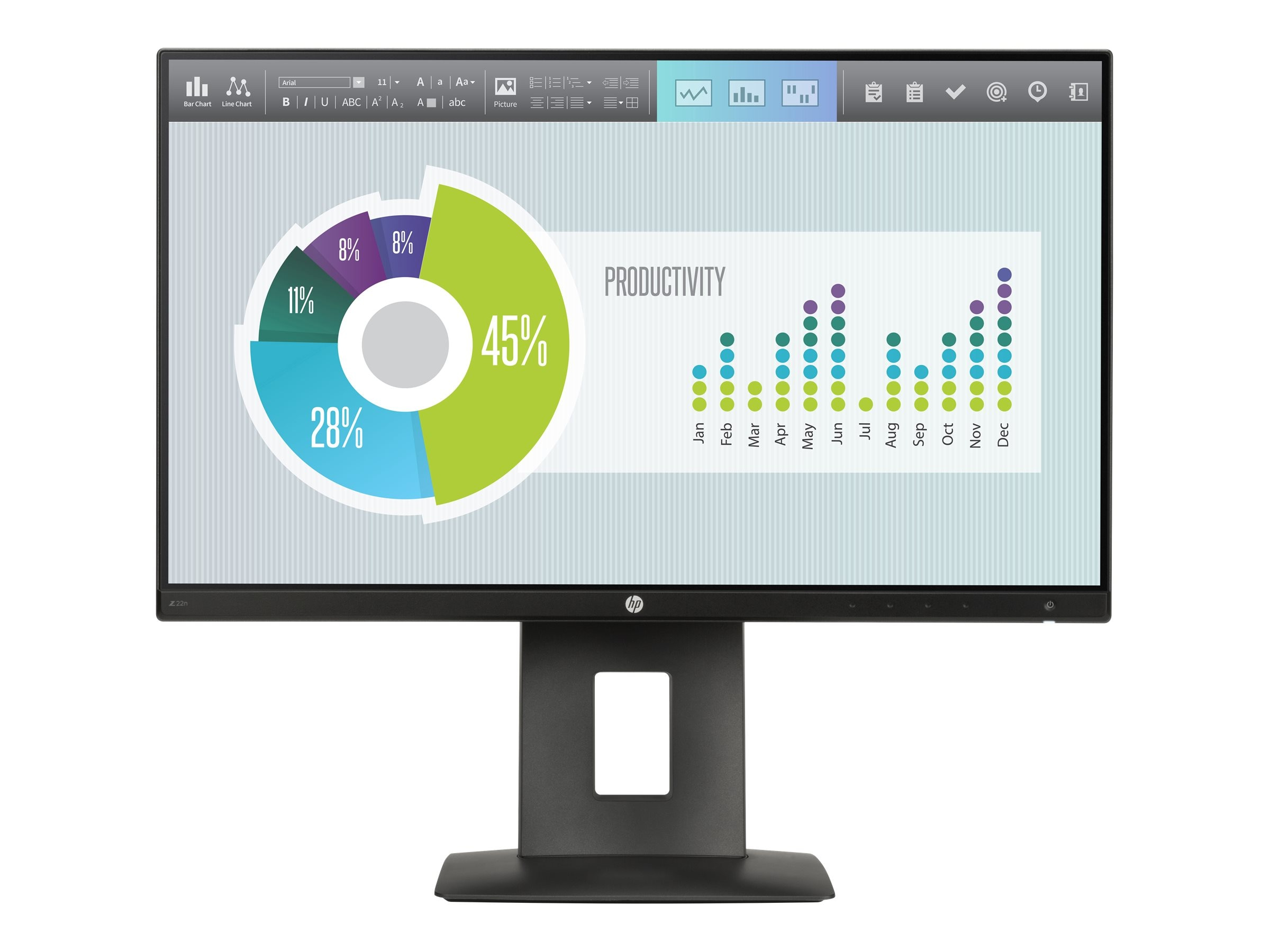HP 21.5 Z22n Full HD LED-LCD Monitor, Black, M2J71A4#ABA, 30925629, Monitors - LED-LCD