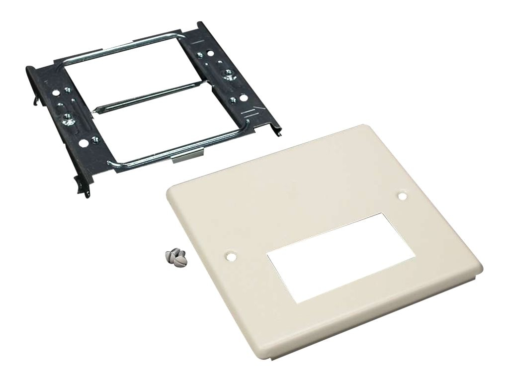 C2G Wiremold 4047 Double Gang Cover Single Rectangular Opening for Wiremold 4000