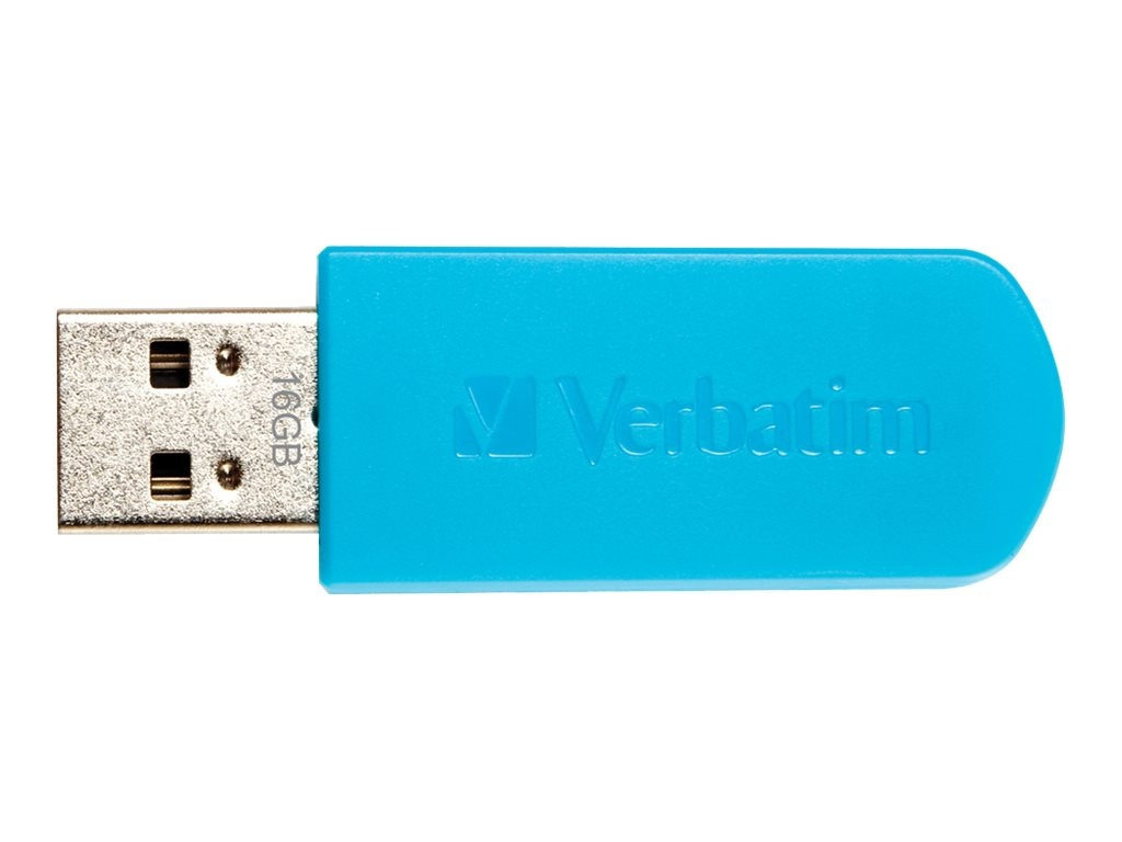 Verbatim 16GB Store N Go Mini Flash Drive, Blue, 49832