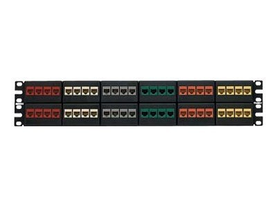 Panduit Category-6 48-Port Flat Modular Patch Panel, Black, NKFP48Y, 16822412, Patch Panels