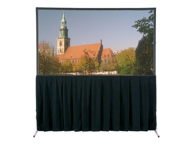 Da-Lite Ultra Velour Heavy Duty Fast-Fold Deluxe and Truss Skirt Drapery, 11' x 19', Blue, 36784BU, 31455403, Projector Screen Accessories