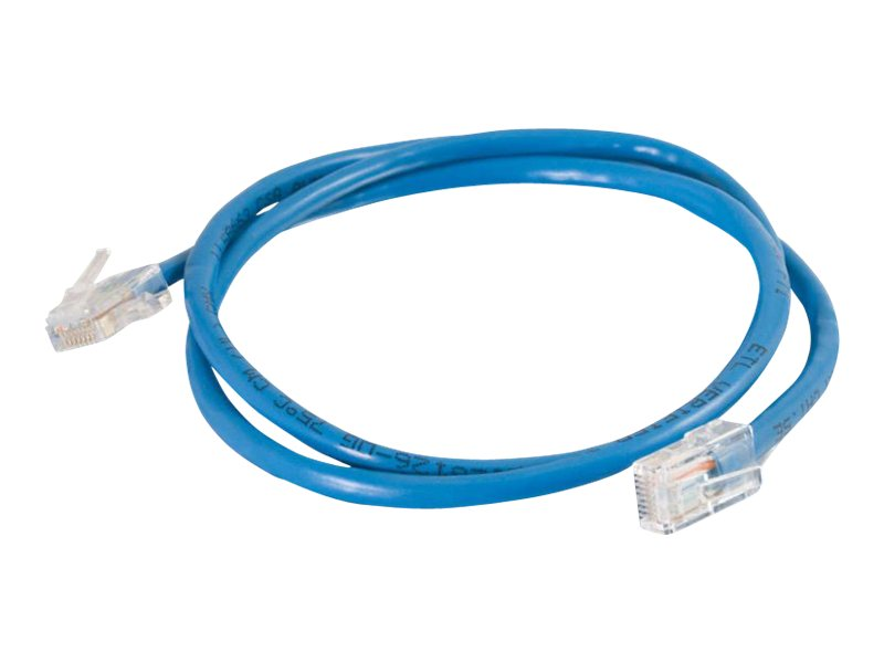 C2G CAT5E Non-Booted Unshielded UTP Patch Cable, Blue, 10ft