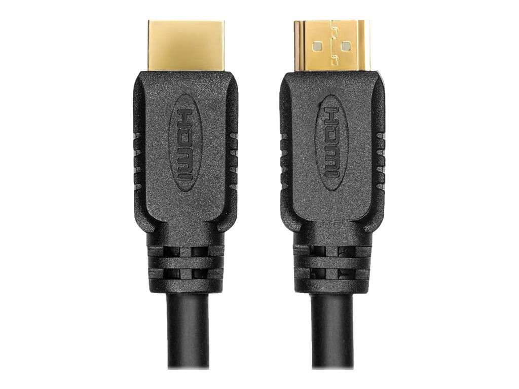 RocStorage HDMI to HDMI M M Cable with Ethernet, Black, 3m