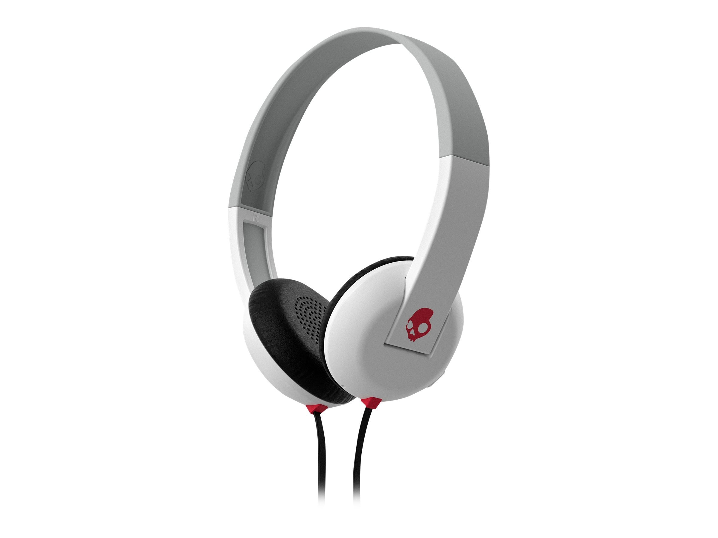 Skullcandy Uproar Headphones w  Tap Tech - White Gray Red, S5URHT-457, 23836821, Headsets (w/ microphone)