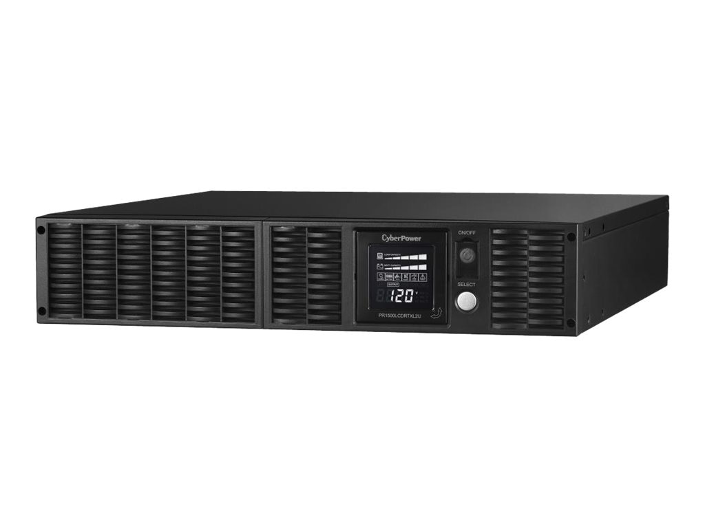 CyberPower 1500VA 1500W Smart App Sinewave LCD UPS 2U RM Tower AVR, 8 Outlets, PR1500LCDRTXL2U, 9414488, Battery Backup/UPS