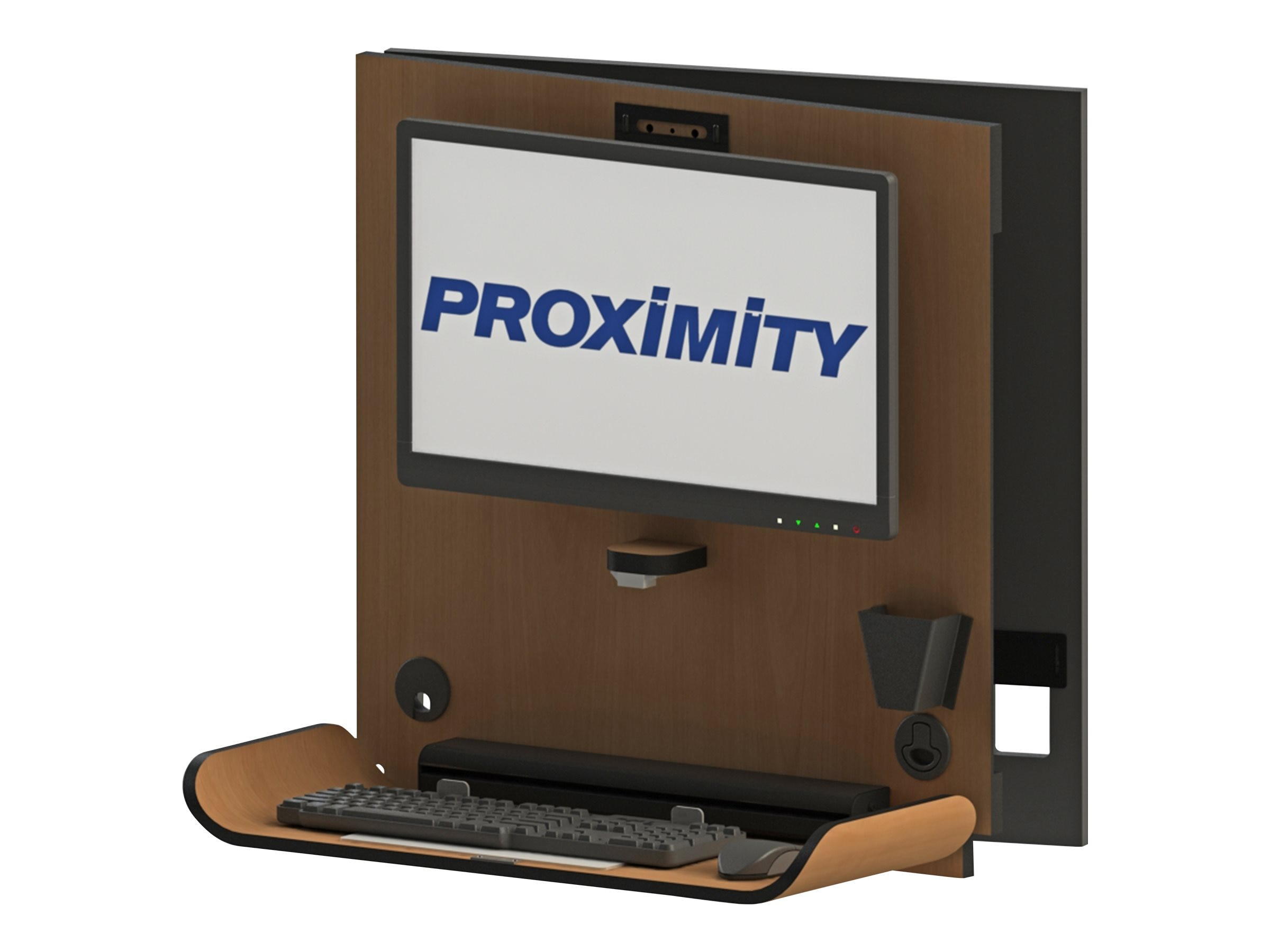 Proximity Classic CX1 Wall Mounted Computer Workstation with 90 Degree Left Swivel, Fonthill Pear