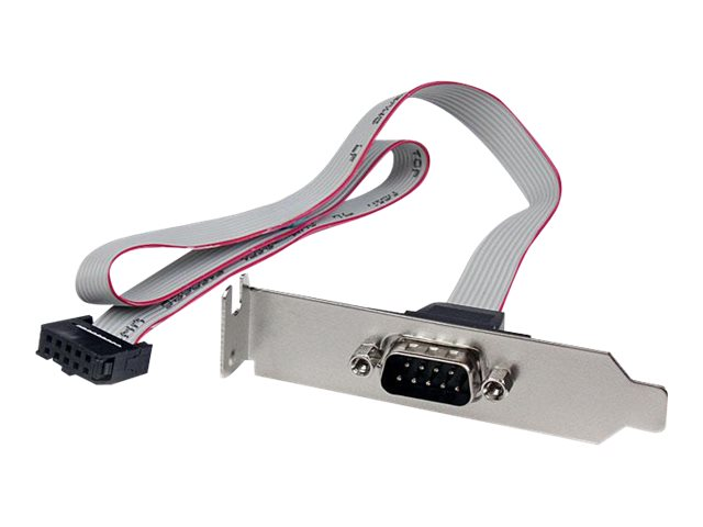StarTech.com 2-Port DB9 Serial Port Bracket to 10 Pin Header, Low Profile, 16in, PLATE9M16LP