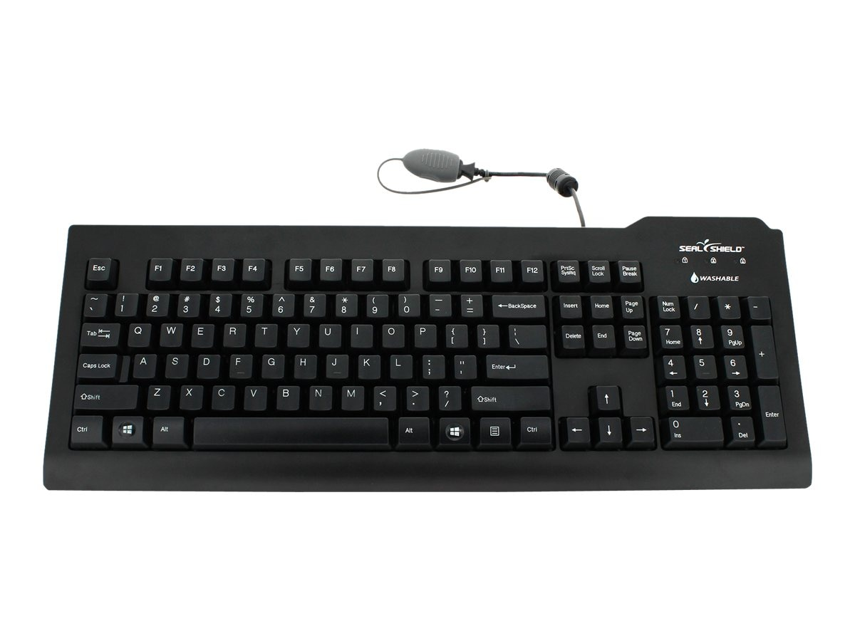Seal Shield Silver Seal Medical Grade Keyboard w  Quick Connect Dishwasher Safe
