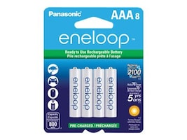 Panasonic Eneloop NiMH 800mAh AAA Battery (8-pack), BK-4MCCA8BA, 33759793, Batteries - Other