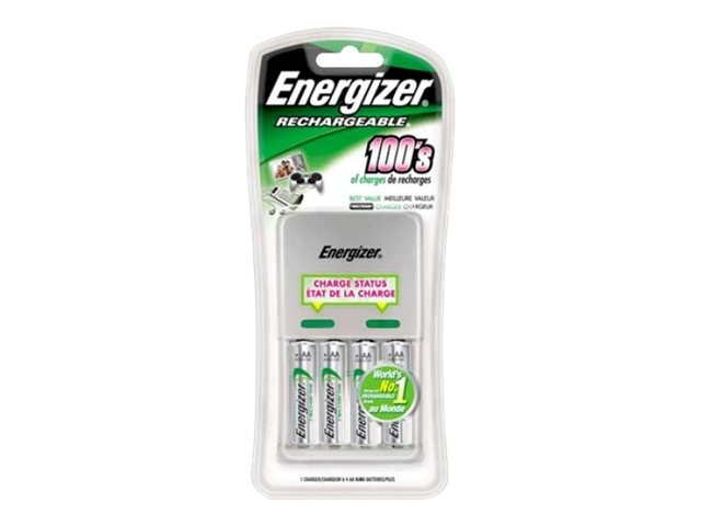 Energizer Value AA AAA Charger, (4) AA NiMH Batteries