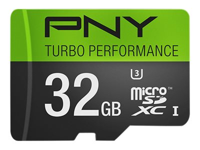 PNY 32GB Micro SDHC UHS-I Flash Memory Card, Class 10, P-SDU32GU390G-GE, 20996642, Memory - Flash