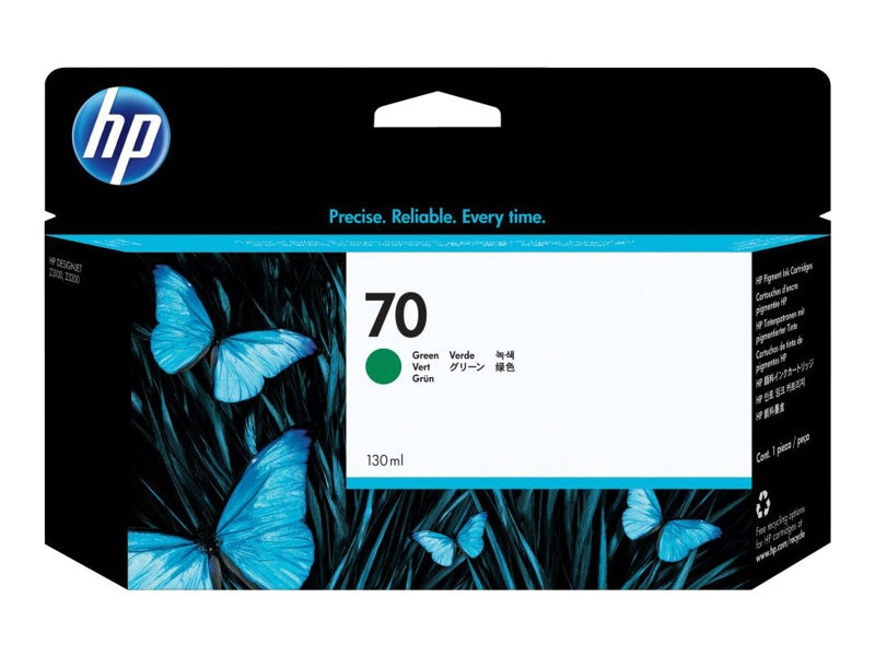 HP 70 Green Ink Cartridge for HP DesignJet Printers, C9457A, 7130457, Ink Cartridges & Ink Refill Kits