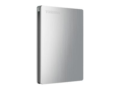 Toshiba 1TB Canvio Slim II USB 3.0 Portable Hard Drive for Mac -Silver, HDTD210XSMEA, 16019232, Hard Drives - External
