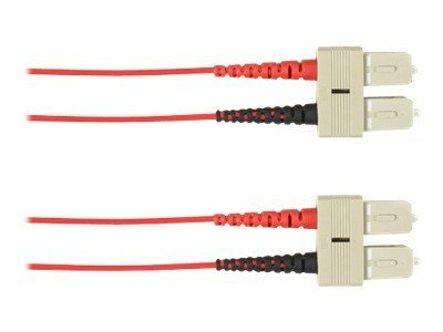 Black Box SC-SC 50 125 Multimode Plenum Fiber Optic Cable, Red, 2m