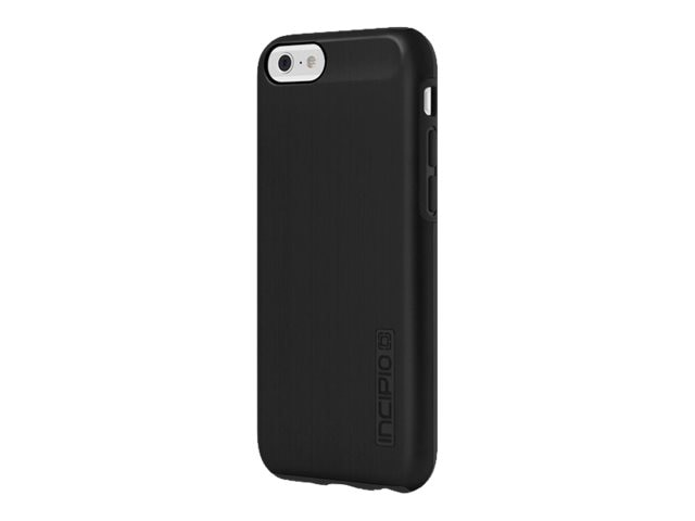 Incipio DualPro SHINE Dual Layer Protection w  Brushed Aluminum Finish for iPhone 6 6s, Black