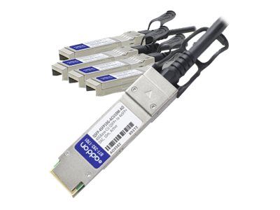 ACP-EP Cisco Compatible 40GBase-CU QSFP+ to 4xSFP+ Passive Twinax Direct Attach Cable, 10m, QSFP-4SFP10GACU10MAO