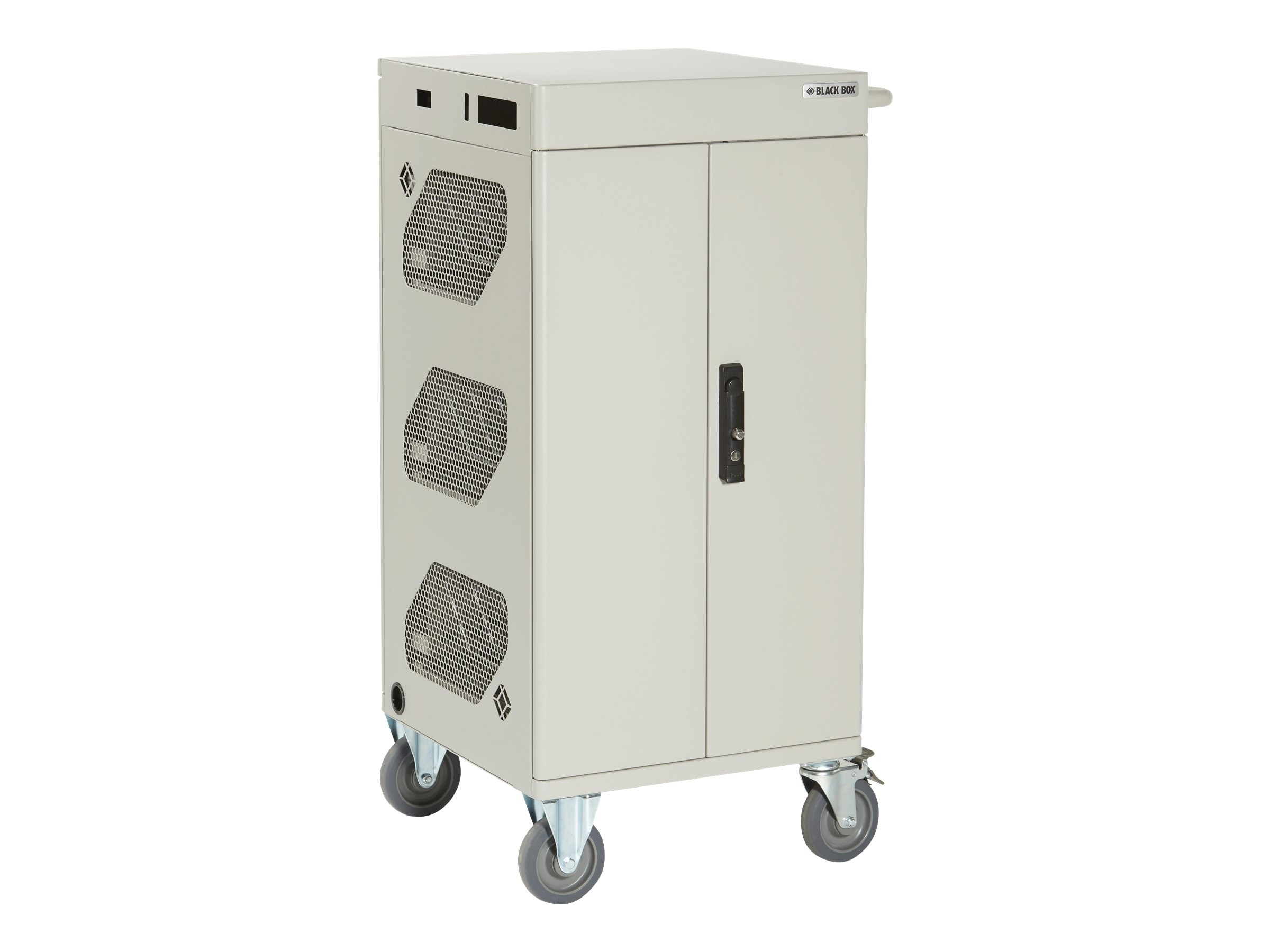 Black Box 36-Unit Intelligent Charging Cart with Hinged Door