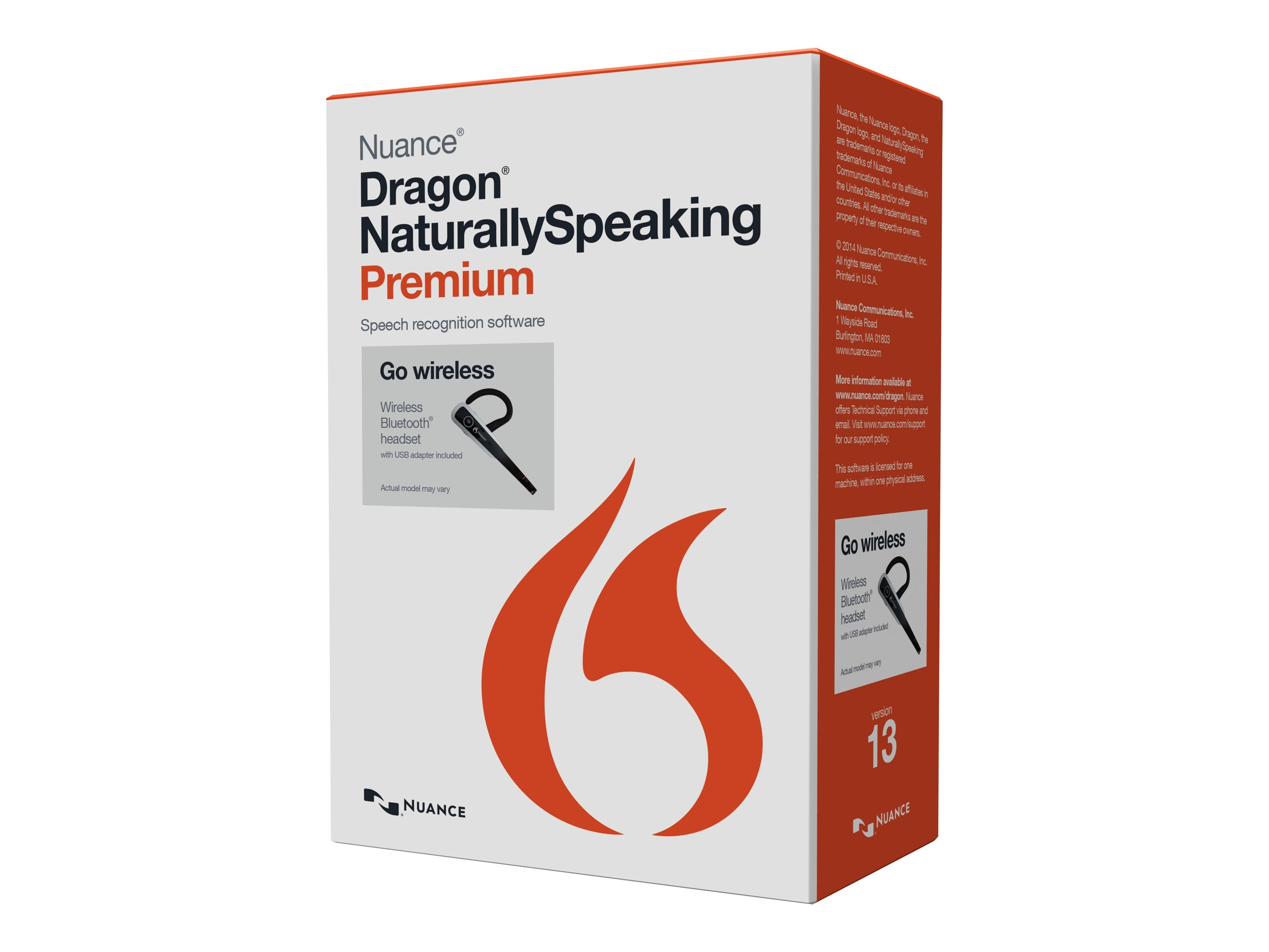 Nuance Dragon NaturallySpeaking 13.0 Premium w Bluetooth Headset