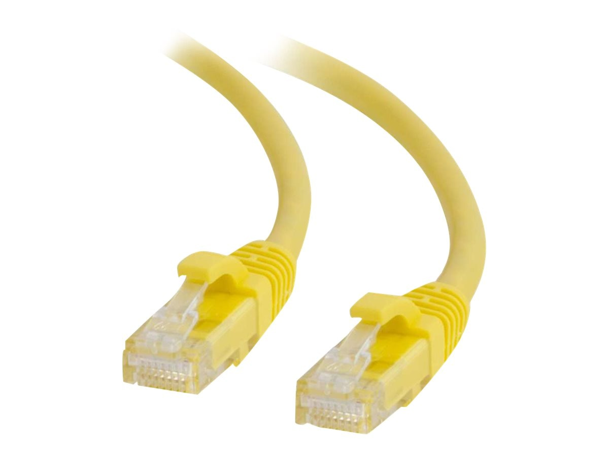 C2G Cat6 Snagless Unshielded (UTP) Network Patch Cable - Yellow, 3ft, 27191, 5852755, Cables