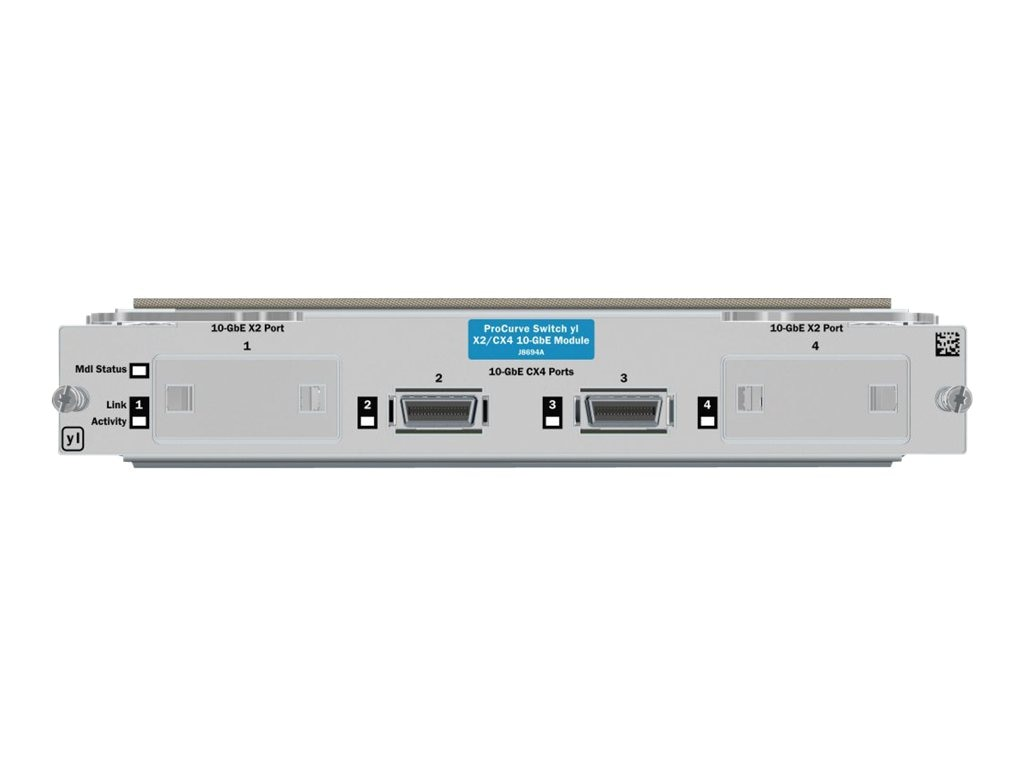 HPE Switch yl 10GbE 2-Port CX4 + 2-Port X2 Module