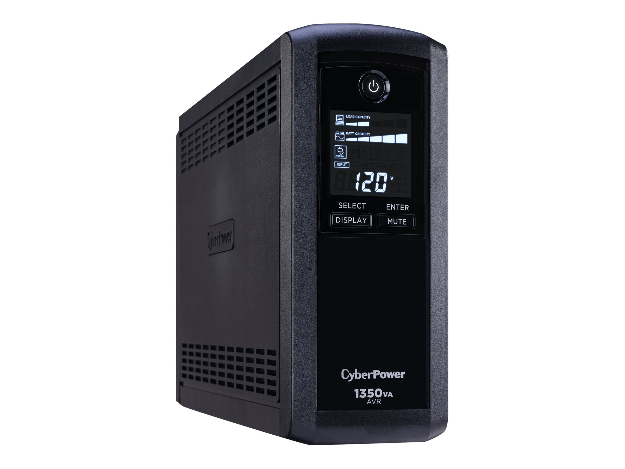 CyberPower 1350VA 810W UPS AVR (8) Outlets RJ-11 RJ-45 Coax Tower LCD Display, Instant Rebate - Save $10, CP1350AVRLCD
