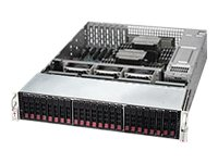 Supermicro SuperServer 2027R 2U RM, DP Xeon E5-2600 Family Max. 768GB DDR3 24x HS 2.5 Bays 4x PCIe GNIC 2x920W