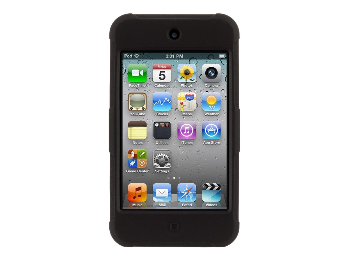 Griffin Protector for iPod Touch 4th Generation, Black, GB02693-2, 15640810, Carrying Cases - iPod