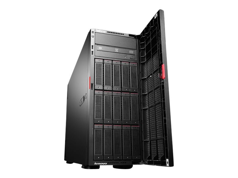 Open Box Lenovo ThinkServer TD350 Tower Xeon 6C E5-2603 v3 1.6GHz 8GB 5x3.5 HS Bays DVD-RW 2xGbE 550W, 70DG0007UX