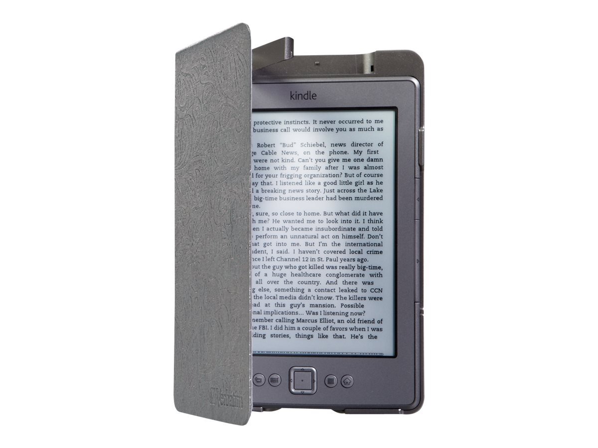 Verbatim Kindle Folio Case Gen 4 & 5 w  LED Light, Slate Silver, 98079, 30827261, Carrying Cases - Tablets & eReaders