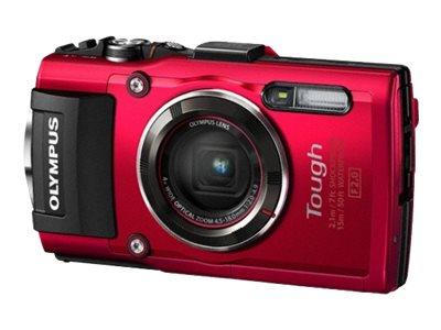 Olympus Stylus TOUGH TG-4 Digital Camera, 16MP, 4x Zoom, Red, V104160RU000