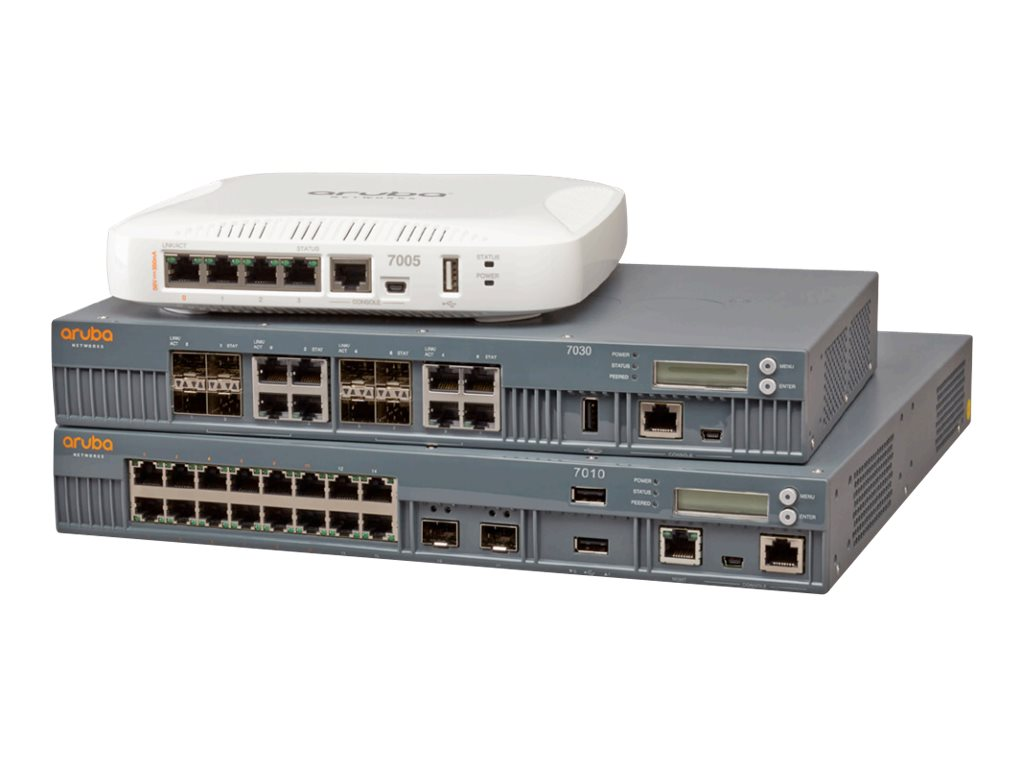 Aruba Networks 7010 12X10 100 1000BASE-T POE  WRLSPOE+ 150W 4X10 100 1000BASE-T, Rest of the World