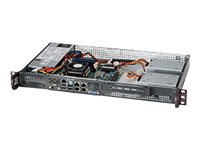 Supermicro SuperChassis 505-203B 1U RM Mini-ITX 1x3.5 Bay 200W, Black
