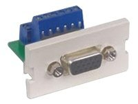 Hubbell Infin-e-Station Module, 15-pin F Screw Terminal SVGA (IM15ST1OW), IM15ST1OW, 450719, Premise Wiring Equipment