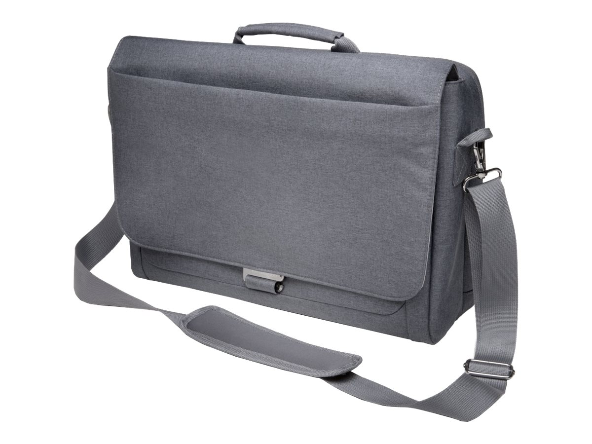 Kensington LM340 Messenger Bag for 14.4 Laptop ChromeBook, Gray, K62623WW