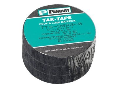 Panduit Hook and Loop Roll, 35ft, 3-Pack, TTS-35R3-0