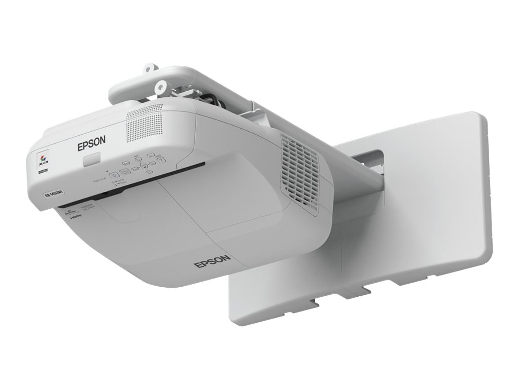 Epson BrightLink Pro 1430Wi Interactive Touch Projector, 3300 Lumens, White with Wall Mount, V11H665520W, 17580945, Projectors