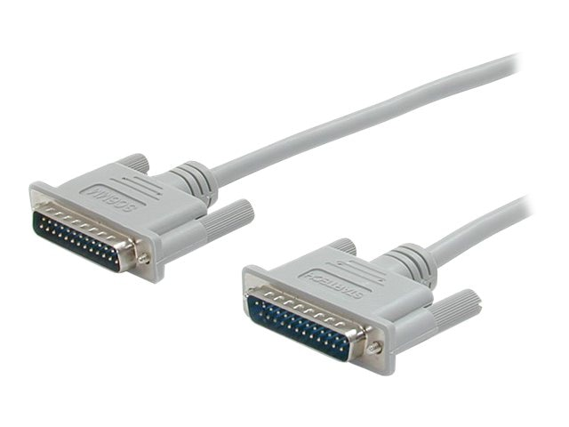 StarTech.com Straight Through Serial Parallel Cable, DB25 (M-M), 50ft