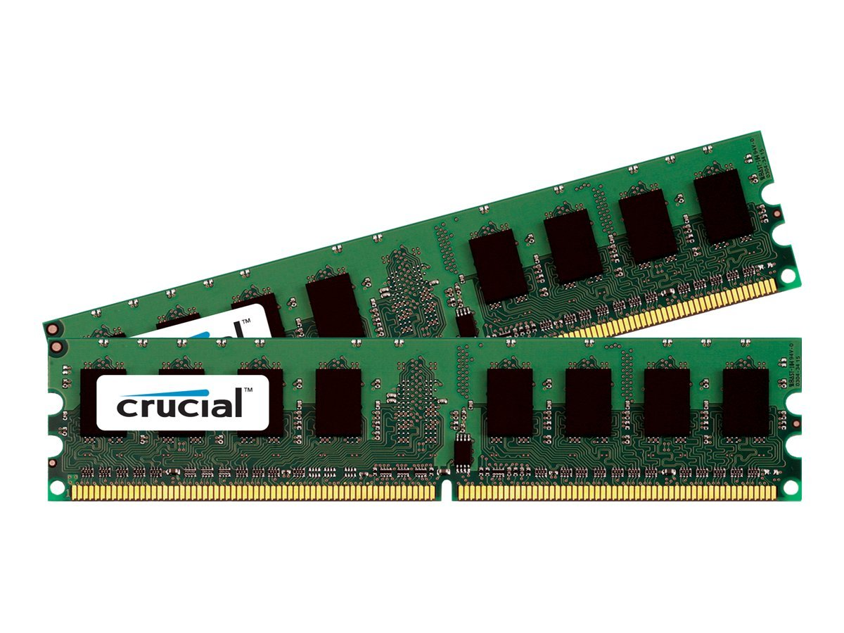 Crucial 4GB PC2-6400 240-pin DDR2 SDRAM DIMM Kit for Super PDSMU, SE7230NH1-E, CT2KIT25672AA80EA, 13850709, Memory