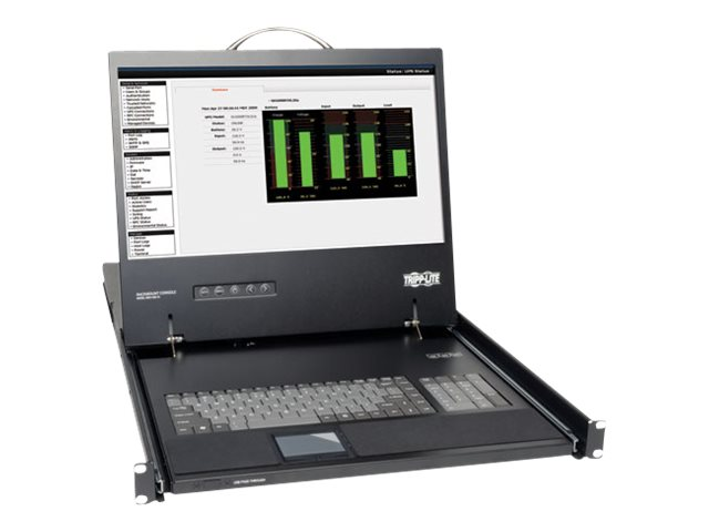Tripp Lite 19 LCD 1U Rackmount KVM Console, Keyboard, Touchpad, TAA, B021-000-19, 8111186, KVM Displays & Accessories