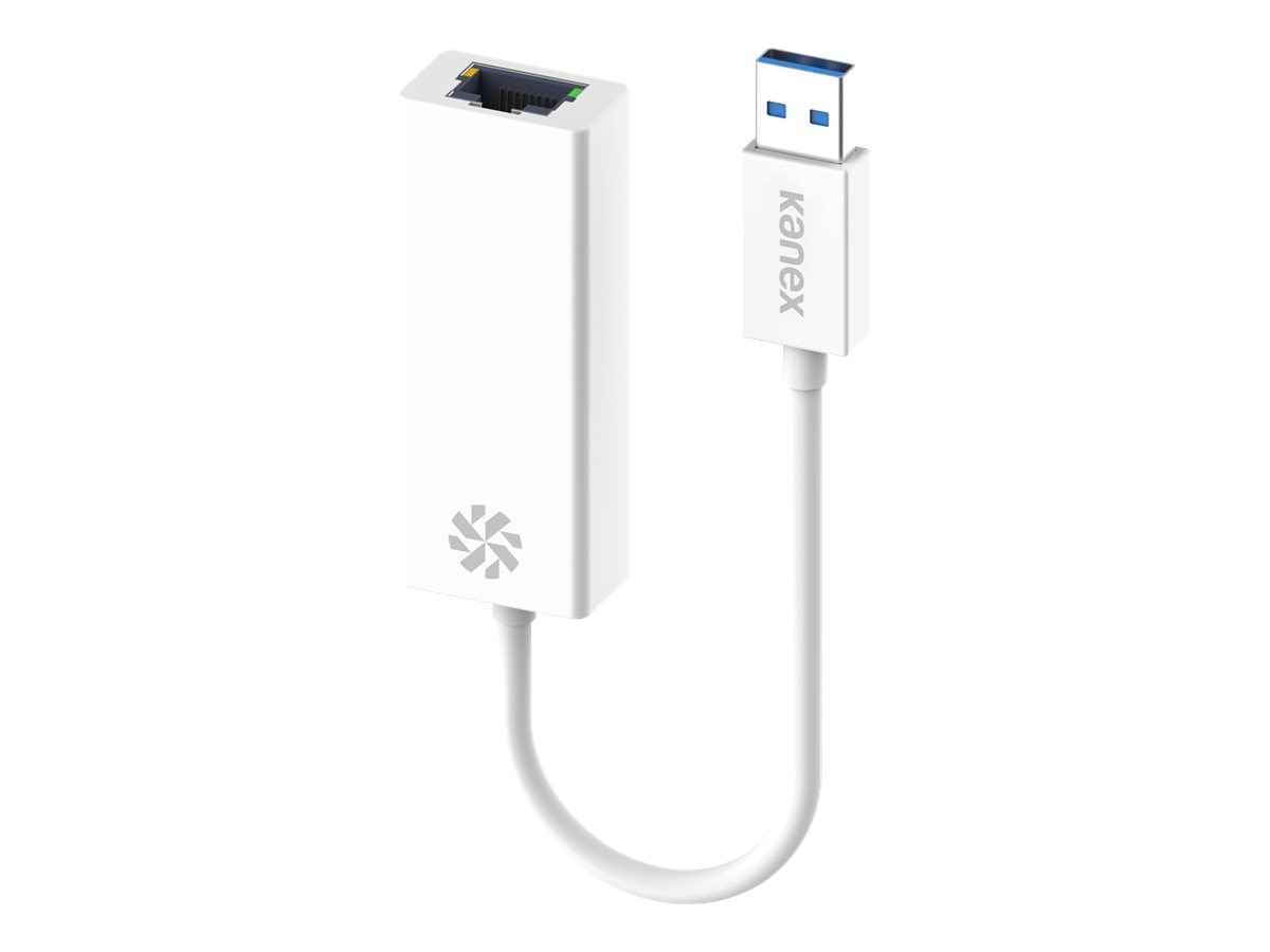 Kanex USB 3.0 Type A to RJ-45 M F Adapter, White, K118-U3E-WT8I