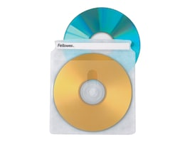 Fellowes CD Sleeves (2 CDs per sleeve) 50-pack, 90659, 241560, Media Storage Cases