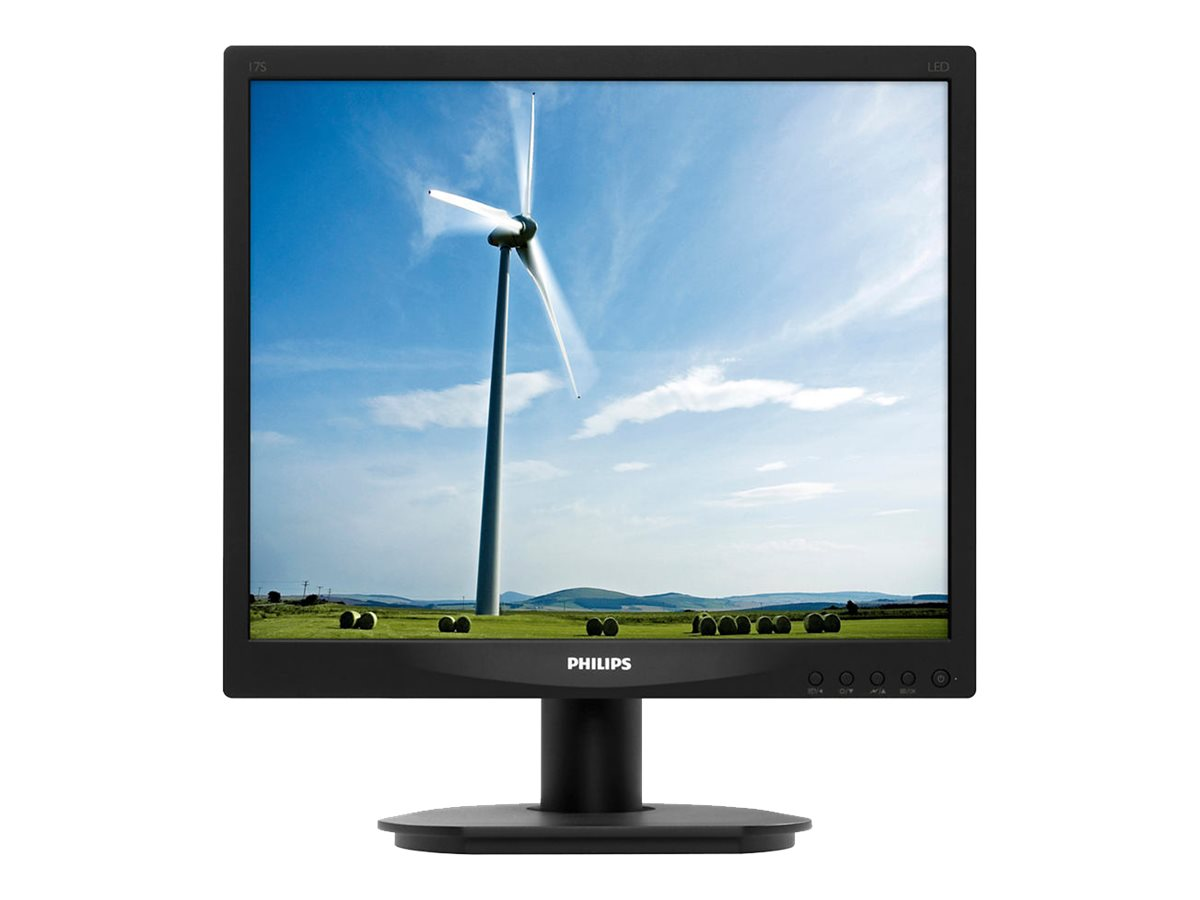 Philips 17 17S4LSB LED-LCD Monitor, Black