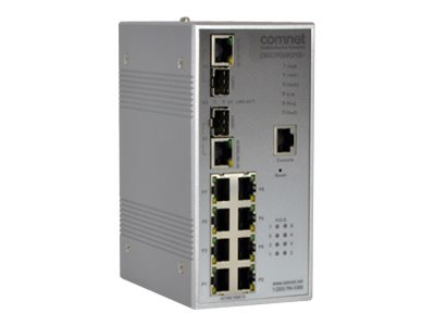 Comnet Managed 2-port 1000Mbps 8-port 10 100 1000 BASE-TX w PoE, CNGE2FE8MSPOE+
