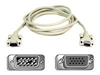 Belkin Pro Series VGA Monitor Extension Cable, with Thumbscrews, 10ft, F2N025-10-T, 180516, Cables