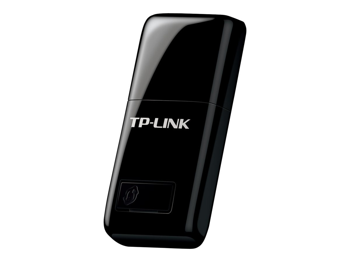 TP-LINK 300Mbps Wireless Mini USB Adapter, Wifi Sharing Mode, One-Button Setup, Windows and Mac compatible