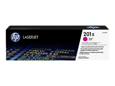 HP 201X (CF403X) High Yield Magenta Original LaserJet Cartridge w  JetIntelligence for M252, M277