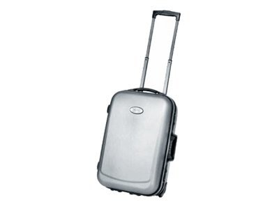 Jelco Molded Travel Case for Projector & Laptop, Wheeled, Platinum