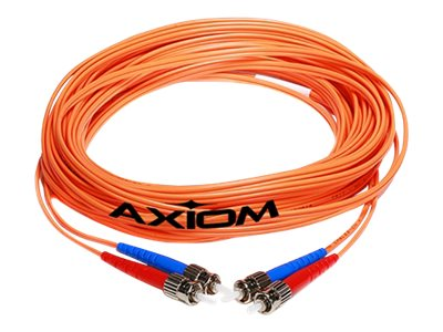 Axiom Fiber Patch Cable, LC-LC, 50 125, Multimode, Duplex, 25m, LCLCMD5O-25M-AX